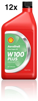 AeroShell Oil W100Plus, Carton 12 x 1  US-Quart