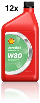 AeroShell Oil W80, Carton 12 x 1 US-Quart