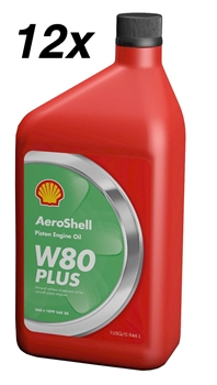 AeroShell Oil W80 Plus, Carton 12 x 1 US-Quart