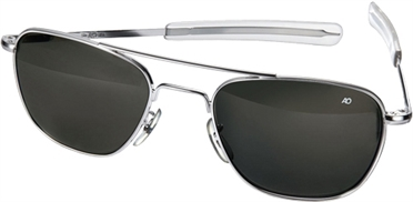 AO Original Pilot Sunglasses®, Glasbreite 52 mm, Gestell chrom glänzend