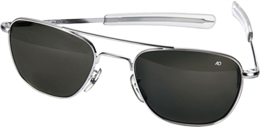 AO Original Pilot Sunglasses®, lens 57 mm,  frame chrome