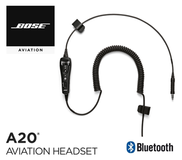 Bose A20 Cable assy - Heli-Version, with Bluetooth, Electret Mic, sprial cord