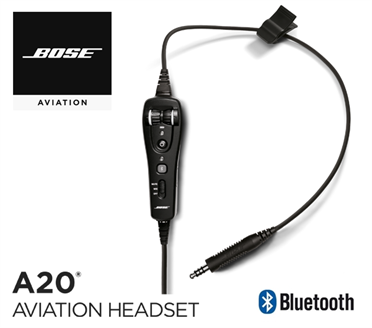 Bose A20 Cable assy - Heli-Version, with Bluetooth, Electret Mic, straight cord