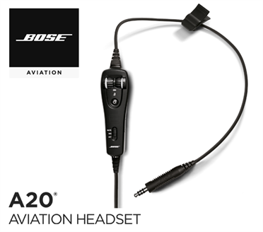 Bose A20 Cable assy - Heli-Version, without Bluetooth, dynamic Mic, straight cord