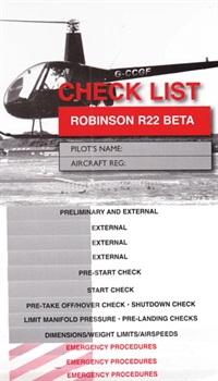 Checkliste Robinson R22 Beta