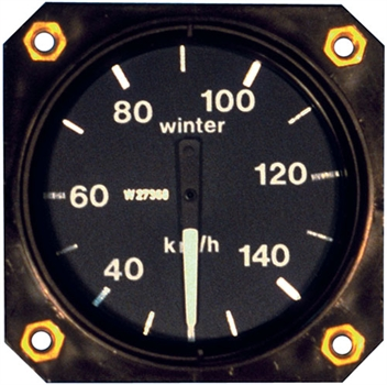 Air Speed Indicator EBF, range 0-100 km/h