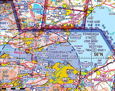 Flight Planner / Sky-Map ICAO-Chart Great Britain