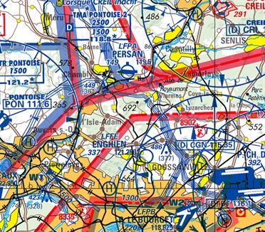 Flight Planner / Sky-Map IGN-Chart France incl. visual approach charts