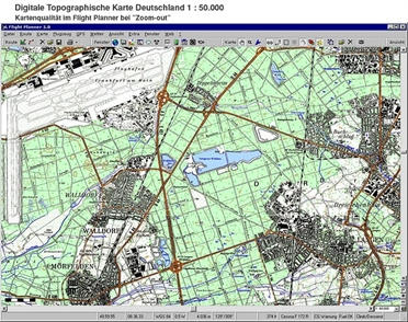 Flight Planner / Sky-Map Topographic Chart Germany