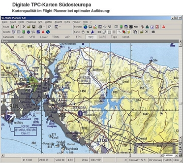 Flight Planner / Sky-Map TPC-Charts South-East Europe