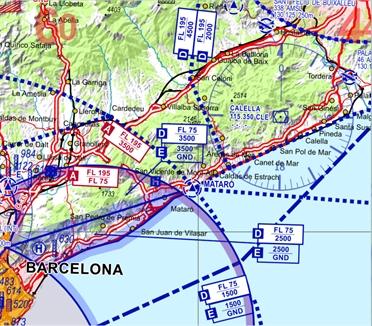 Spanische Karte.Flight Planner Sky Map Vfr 500 Karte Spanien Portugal