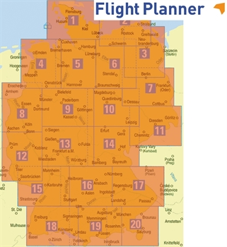 Flight Planner / Sky-Map German Generalchart North and South