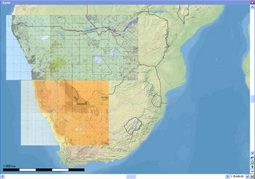 Flight Planner / Sky-Map TPC-Charts South Africa