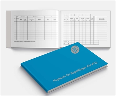 Flight log book for glider EU-FCL