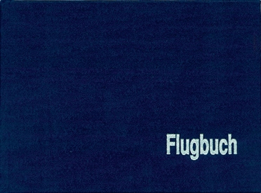 Flight log book for glider, small