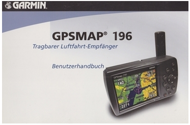 Deutsches Benutzerhandbuch Garmin GPSMAP 196