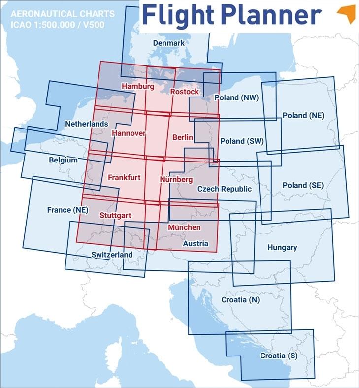 Luftfahrtkarten Headsets Flugfunk Flight Planner 6 Mit Icao