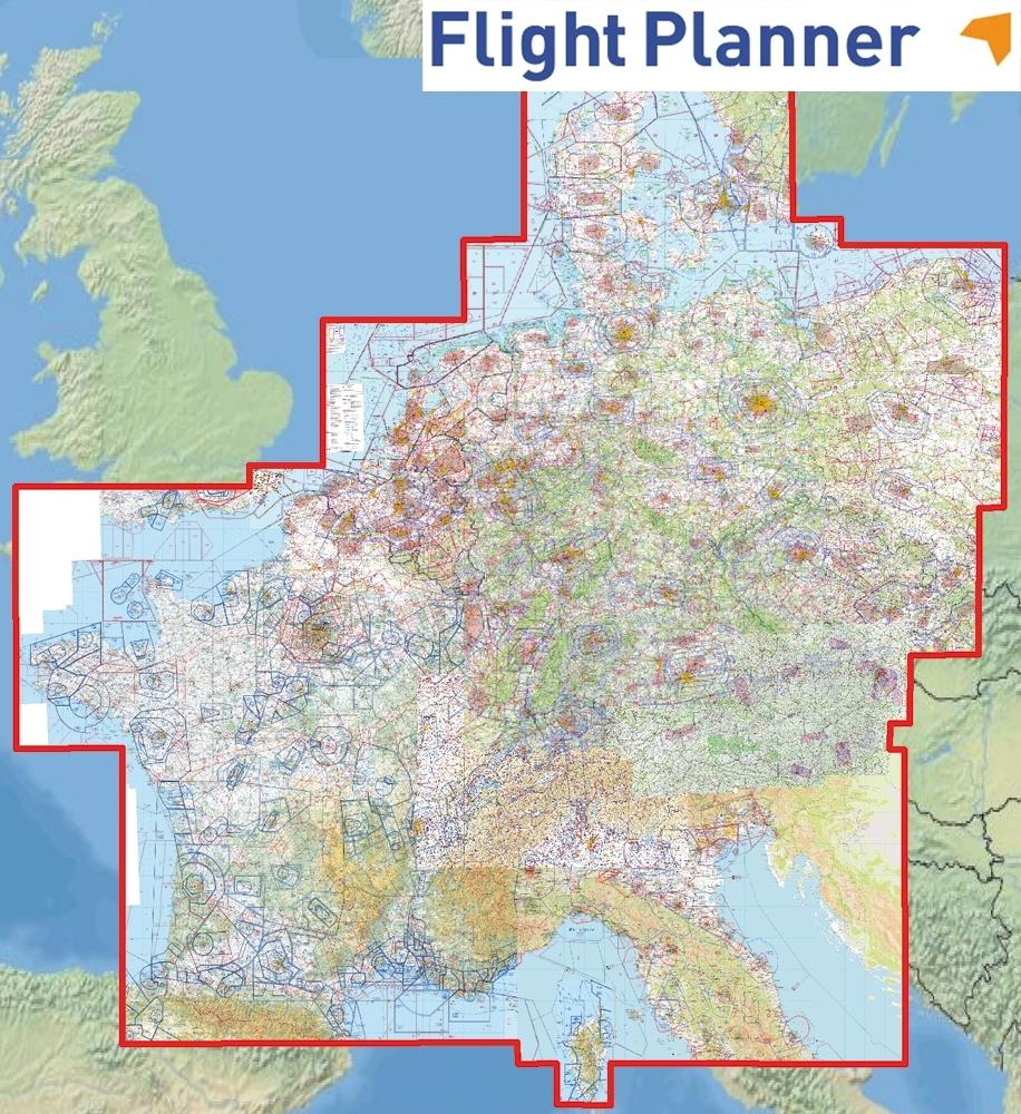 Friebe LuftfahrtBedarf Gps Headsets Funk Ausrüstung Für - Germany map neighbouring countries
