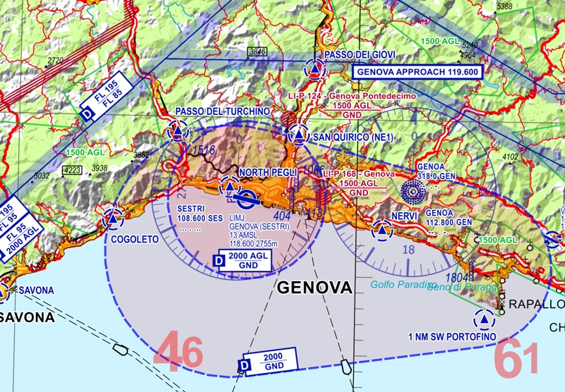 Flight Planner / Sky-Map VFR 500 Chart Italy