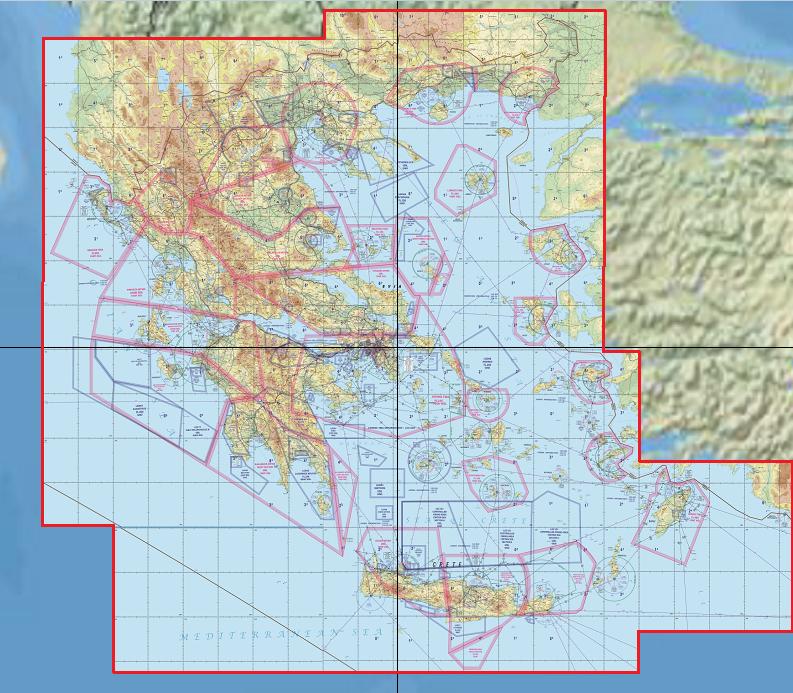 Karte Griechenland.Flight Planner Sky Map Vfr Karte Griechenland