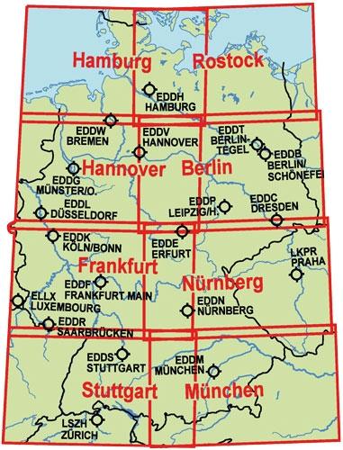 icao karte deutschland Luftfahrtkarten, Headsets, Flugfunk, Ram Mounts   zusammengesetzte  icao karte deutschland
