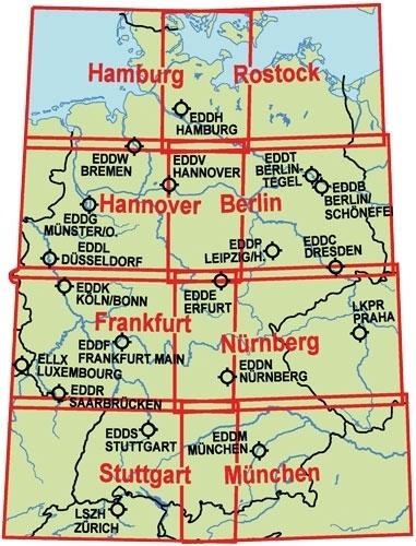 icao karte deutschland online Luftfahrtkarten, Headsets, Flugfunk   ICAO Karte Deutschland