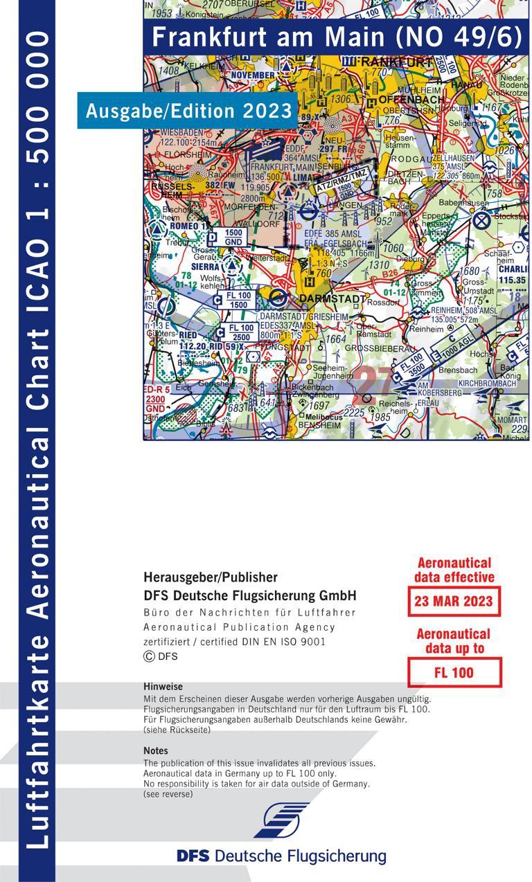 Luftfahrtkarten Headsets Flugfunk Icao Karte Von Deutschland
