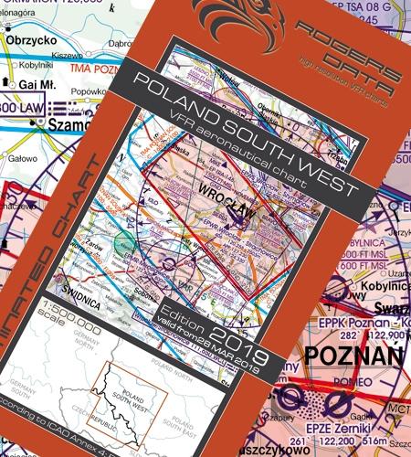 Polen Karte 2019.Rogers Data Vfr Karte Polen Sud West 2019