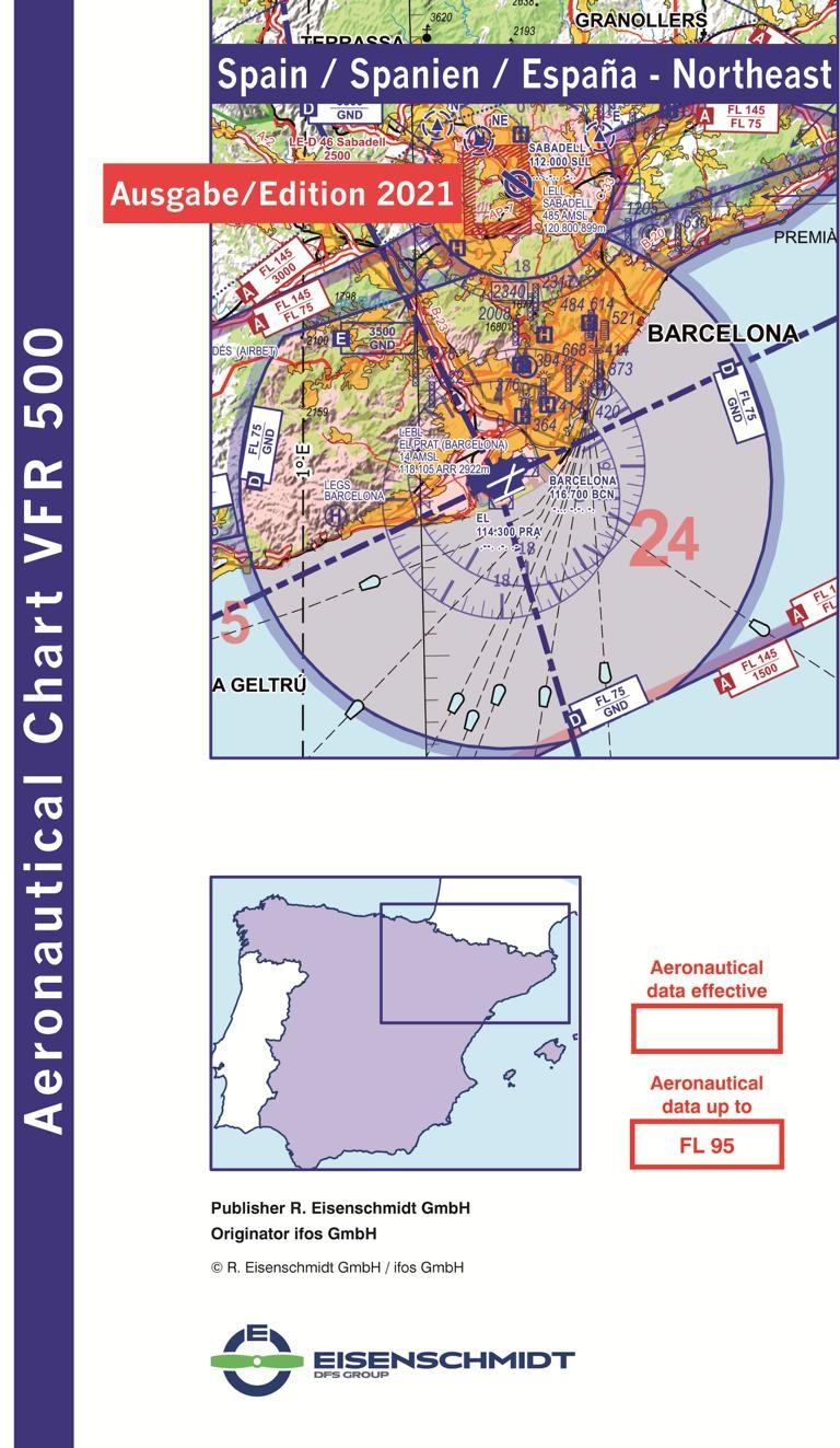 Spanische Karte.Vfr 500 Karte Spanien Nordost