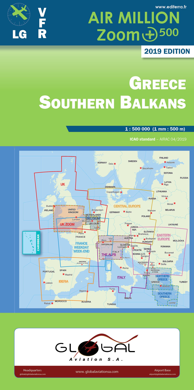 Karte Griechenland.Vfr Karte Griechenland Süd 2019