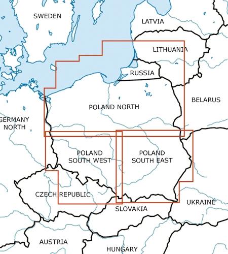 Polen Karte.Vfr Karte Polen Süd Ost 2019