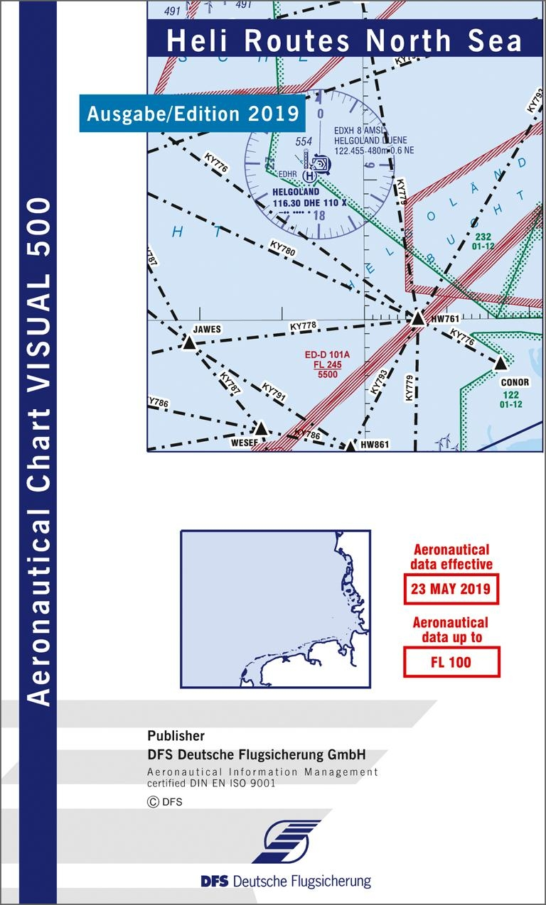 Gps Karte.Visual 500 Karte Heli Routes North Sea