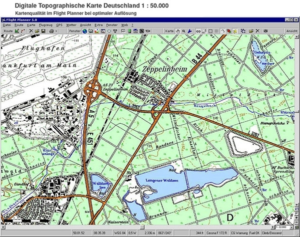 Luftfahrtkarten Headsets Flugfunk Flight Planner Sky Map