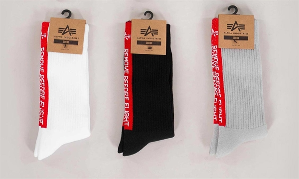 Socks REMOVE BEFORE FLIGHT