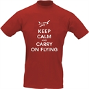 Pilot-T-Shirt KEEP CALM AND CARRY ON FLYING